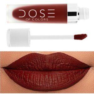 NIB Dose of Colors Liquid Matte Lipstick - Charm